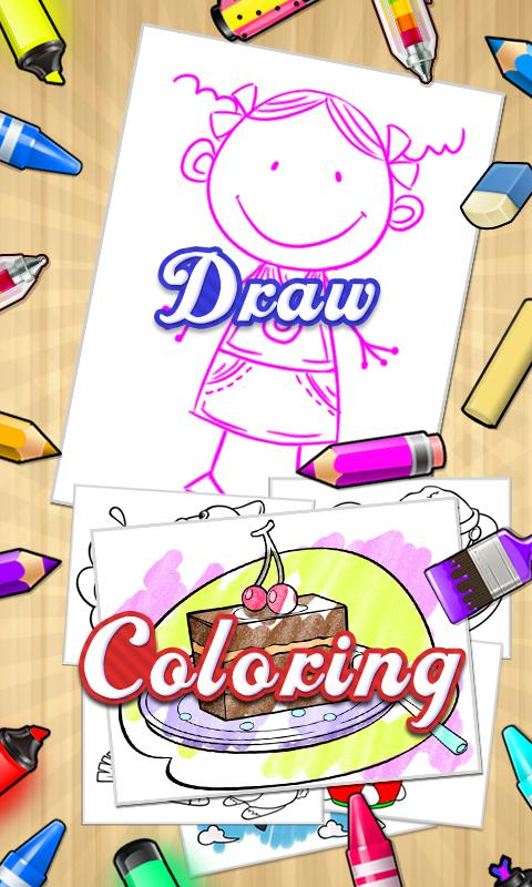 Draw+Coloring Books - screenshot