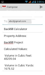 Back Fill Calculator screenshot 3