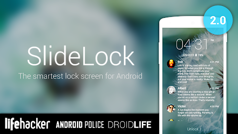 التطبيق الجديد SlideLock