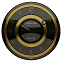 Black Gold clock widget icon