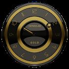 Widget relógio de ouro preto icon