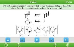 Screenshot of 11+ Non-verbal Reasoning Lite