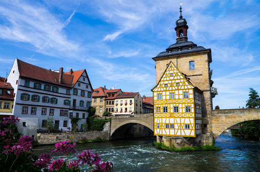 Bamberg-town-hall-Germany - The historic city center of Bamberg, Germany, is a UNESCO World Heritage Site.