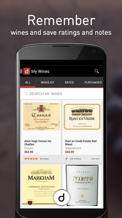 Drync Wine Scanner, Delivery- screenshot