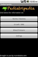 Screenshot of Pediatripedia