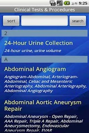 Clinical Tests & Procedures Screenshot 2