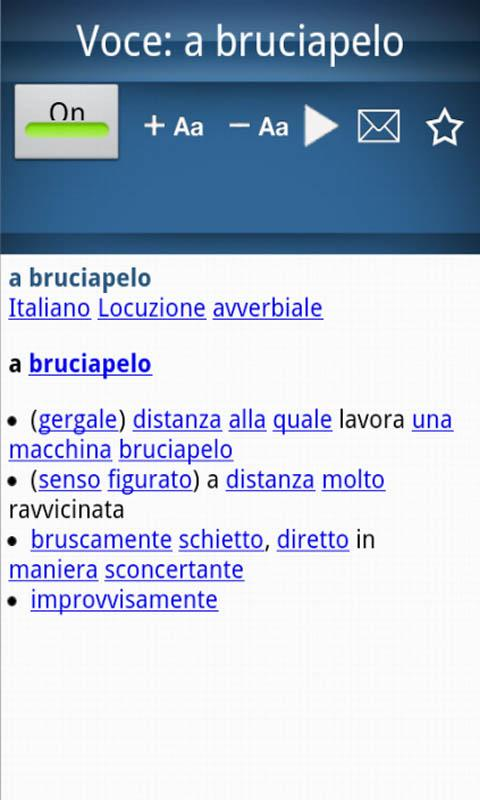 Italian dictionary- screenshot