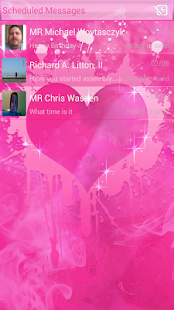 Smokin HOT PINK GO SMS Pro - screenshot thumbnail