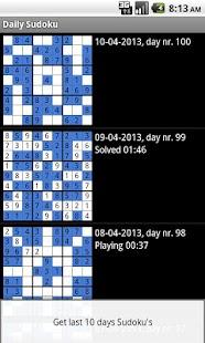 Denní Sudoku Volný - náhled