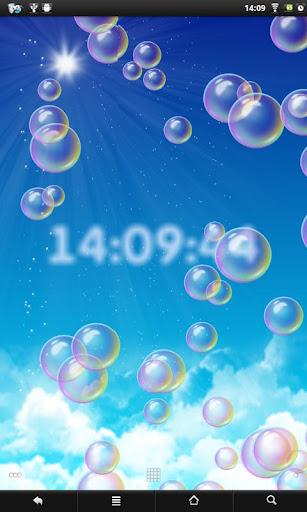 Bubbles clock PRO
