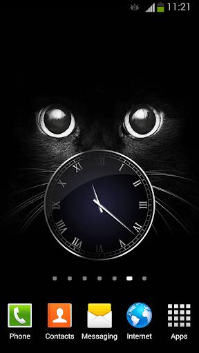 黑 时钟小工具
