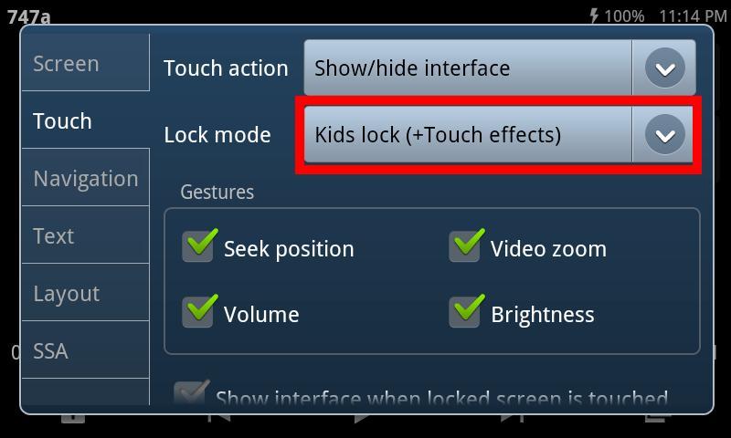 Kids Lock (plugin)- screenshot
