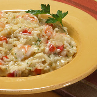 Creamy Shrimp Risotto.