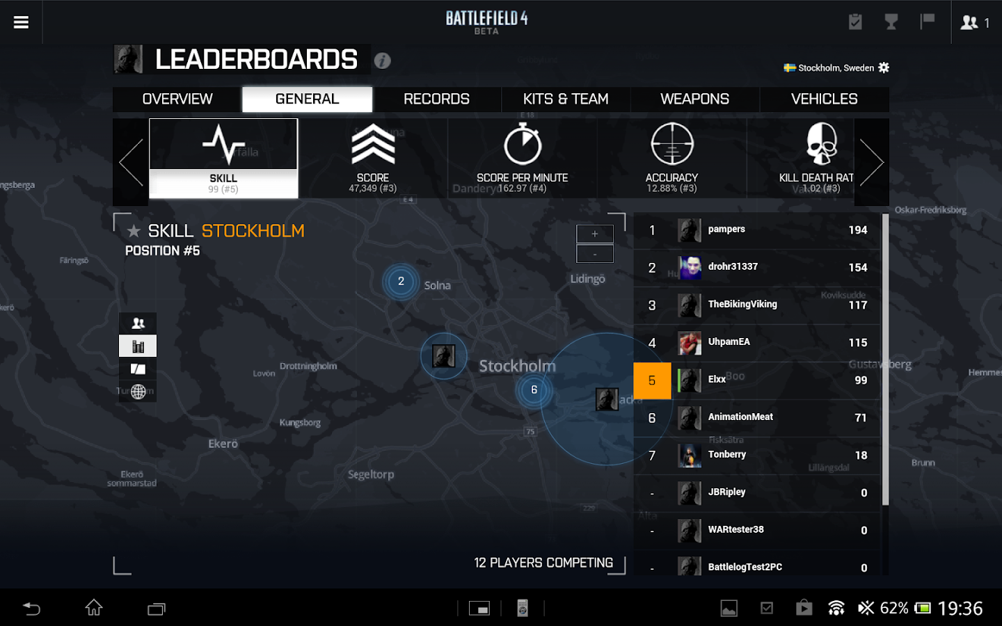 Battlelog - screenshot