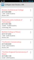 Screenshot of College Search