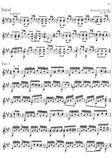 Carulli F Theme and Variations