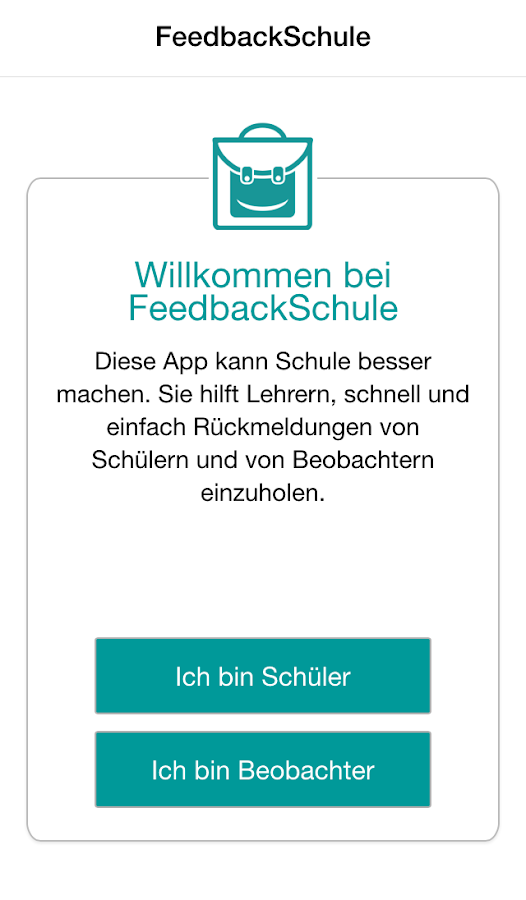 FeedbackSchule- screenshot