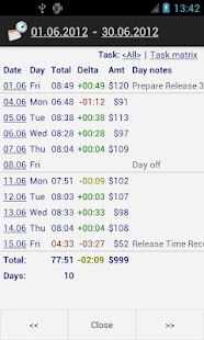 Time Recording - Timesheet App - screenshot thumbnail