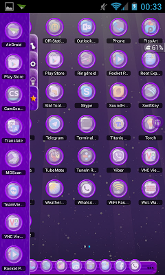 TSF Shell Theme Violet LightHD - screenshot