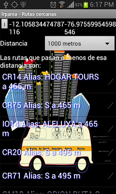Bus guide for Lima and Callao - screenshot