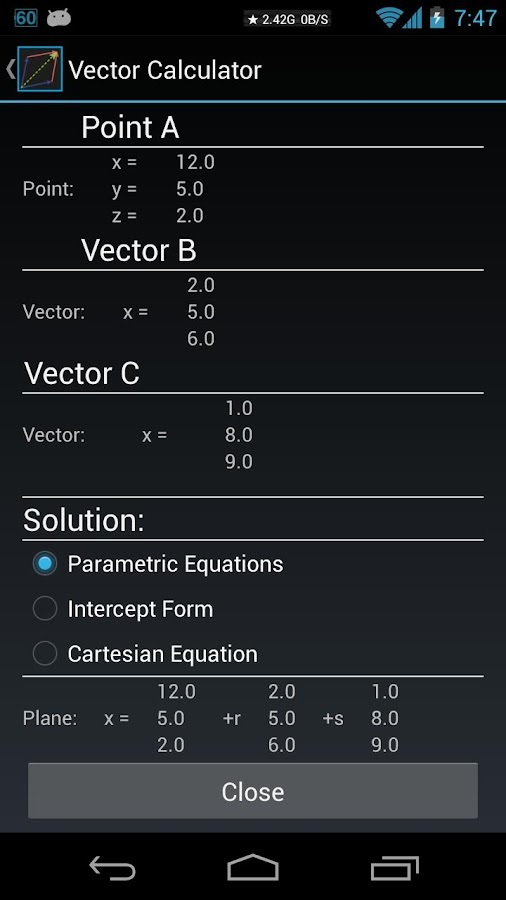 Vector Calculator DONATE- screenshot
