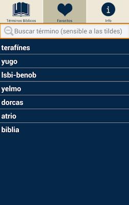 Diccionario Terminos Biblicos - screenshot