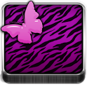 THEME - Purple Zebra Butterfly icon