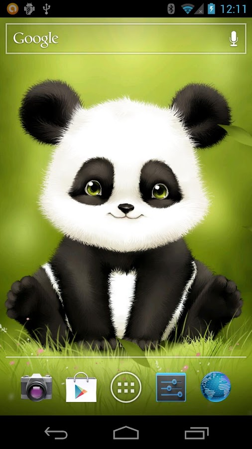 Panda Bobble Live Wallpaper- screenshot