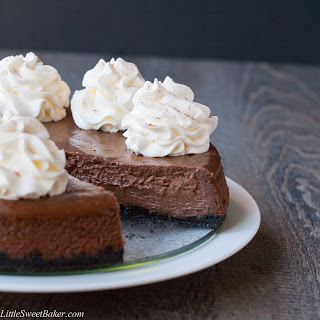 Chocolate Cinnamon Cheesecake.