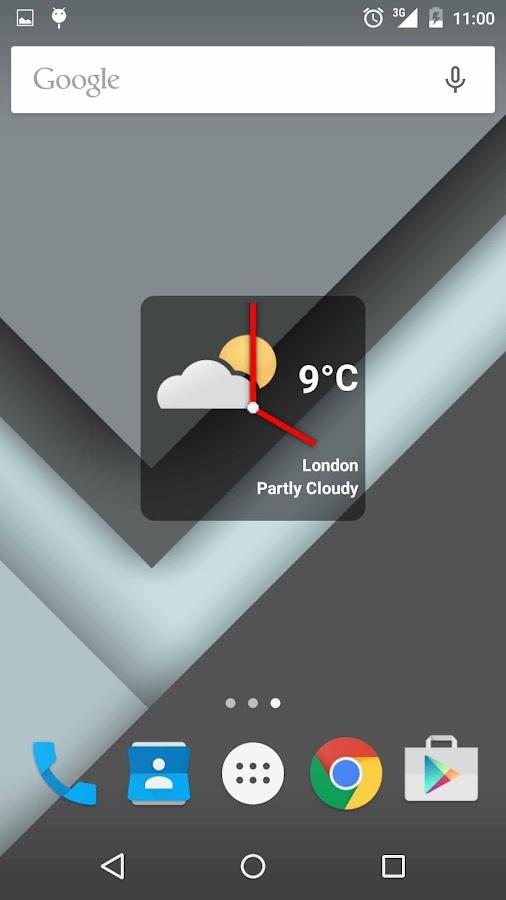 Boxy Clock Widget - screenshot