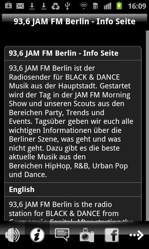JAM FM- screenshot