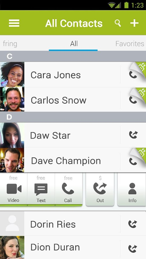 fring Free Calls, Video & Text - screenshot