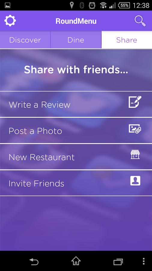RoundMenu Restaurant Discovery - screenshot