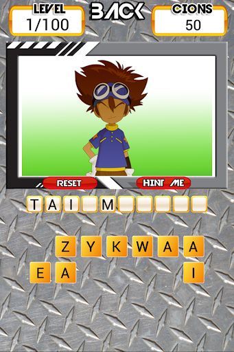 Guess Digimon Adventure Game