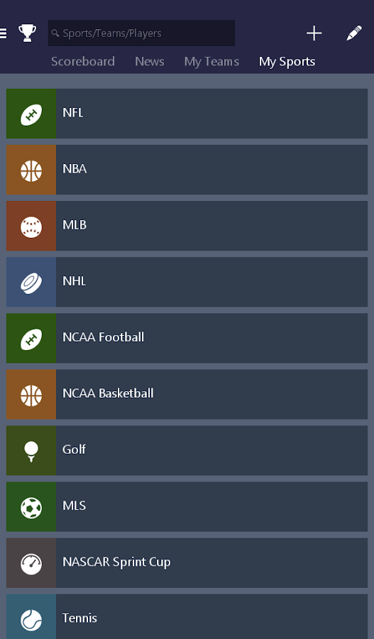 MSN Sports - Scores & Schedule- screenshot