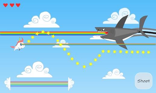 Unicorn vs flying Sharks