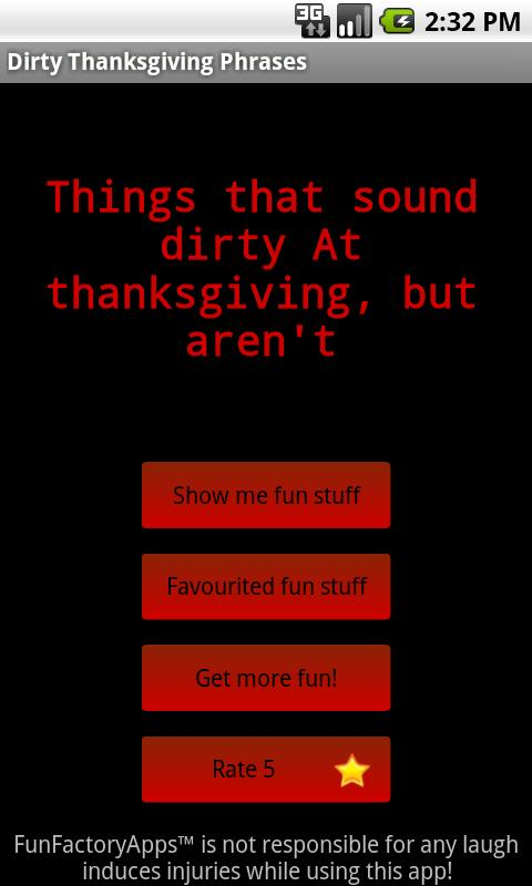 Dirty Thanksgiving Phrases - screenshot