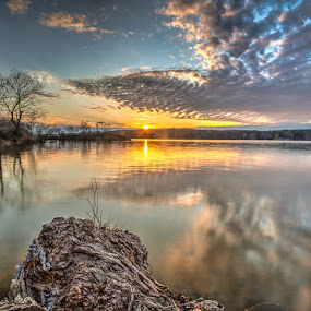 Cootes Bay Sunset by Craig Brown - Landscapes Sunsets & Sunrises ( clouds, water, canada, image, ontario, landscape, photo, spring, photography, nature, sunset, craig, photographer, canon 5d mk ii, cootes bay, hamilton, craig brown )