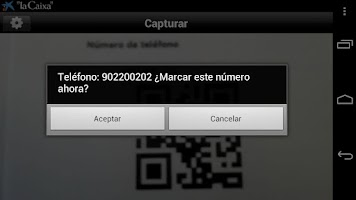 Screenshot of Lector códigos QR