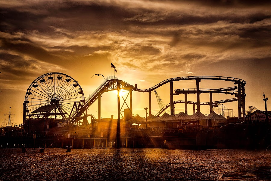 My Favorite Beach by Kelley Hurwitz Ahr - City,  Street & Park  Amusement Parks ( la, march 2014,  )