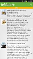 Screenshot of Toidutare