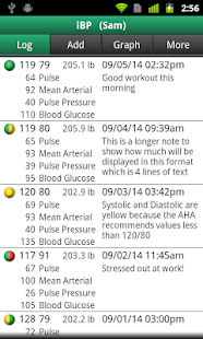 iBP Blood Pressure screenshot for Android