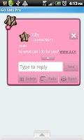 Screenshot of GO SMS THEME/BrnPinkZebra
