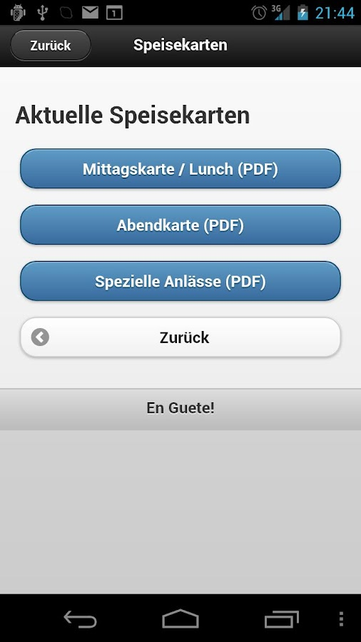 Restaurant LUEGETEN - screenshot