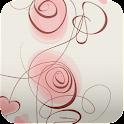 romantic floral wallpaper 251 icon
