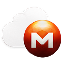 Mega cloud storage icon