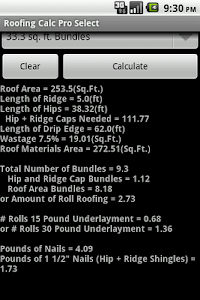 Roofing Calc Pro Select screenshot 3