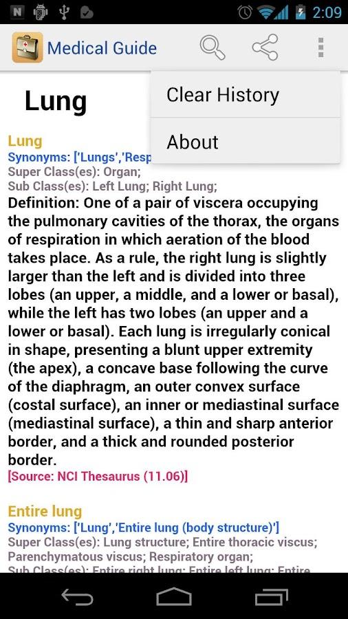 Medical Dictionary & Guide- screenshot