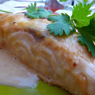 Salmon with Honey and Mustard.