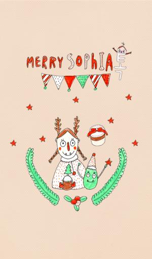 소피아 크리스마스 카카오톡 테마